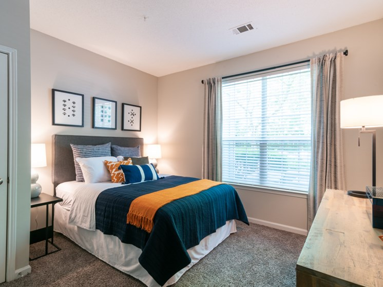 Bedroom  at The Village Apartments, Raleigh, NC