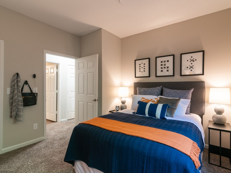 Modern Bedroom  at The Village Apartments, Raleigh, NC