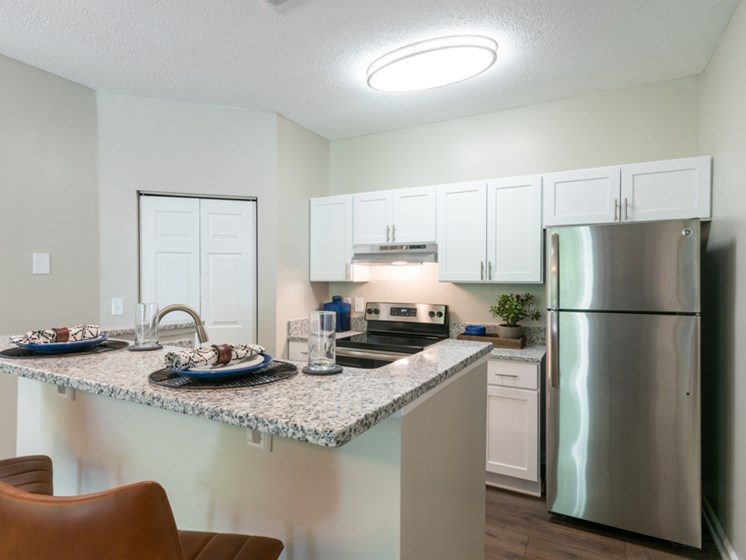 The Village Model Kitchen at The Village Apartments, Raleigh, NC
