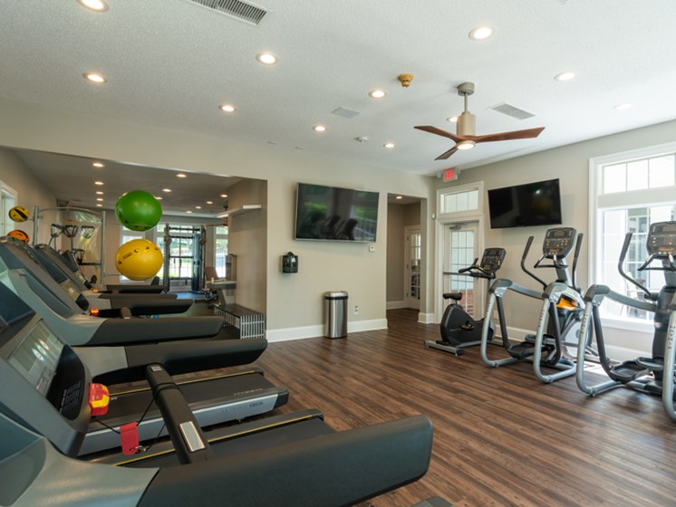 Fitness Center at The Village Apartments, Raleigh, NC