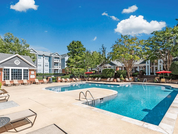 Luxurious Pool at The Village Apartments, Raleigh, 27615