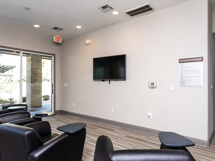 resident theater room in north san antonio apartments