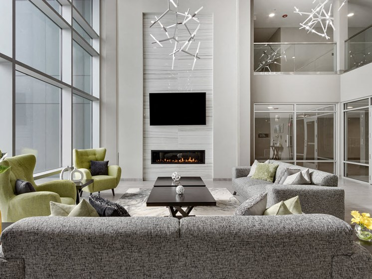 living room of lakeside of oakbrook apartment