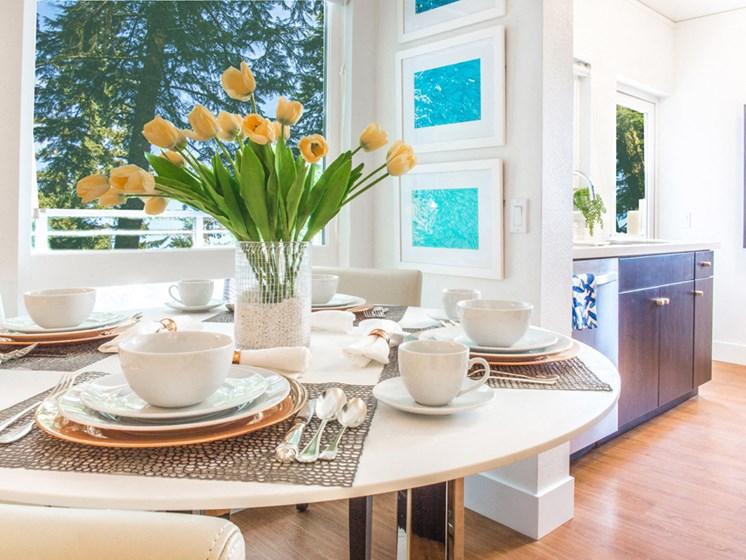 apartment interior dining area