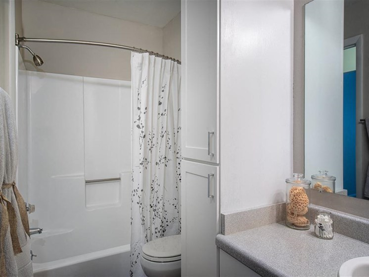 furnished bathroom