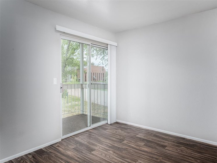 living room with door