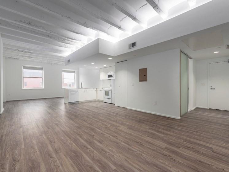 Wood Floor at Market District Lofts, Ohio