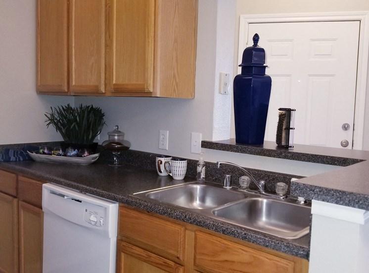 Kitchen of model unit