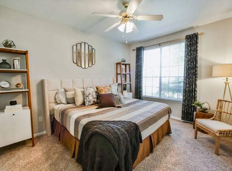 Bedroom of model unit