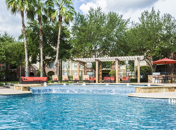 Pool with Cabanas