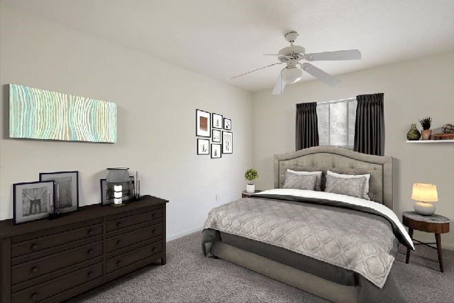 Carpeted Bedroom with Virtually Placed