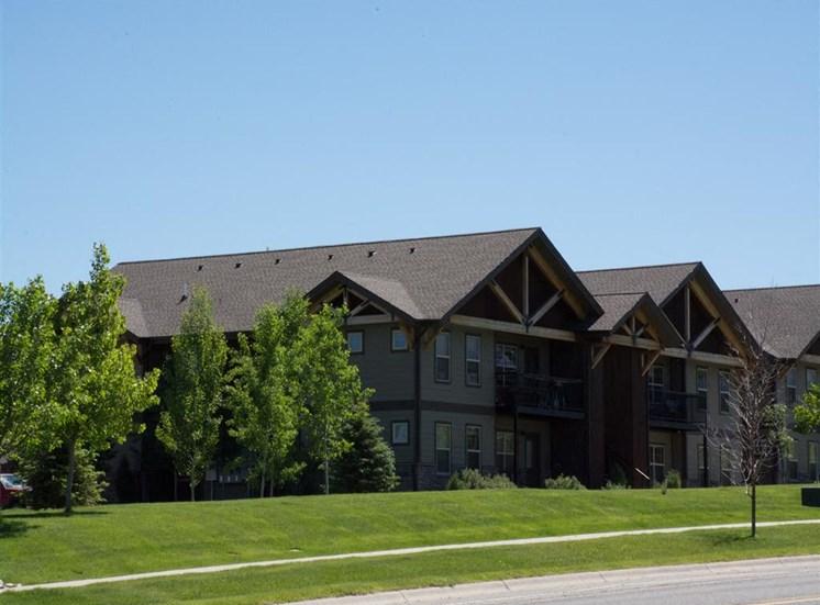 Lush Landscaping at Saddleview Apartments, Bozeman, Montana