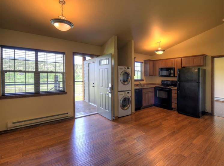Kitchen with a view at Saddleview Apartments, Bozeman, MT