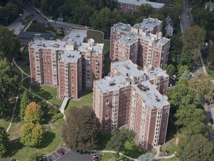 Alden Park- Manor Building-aerial view.