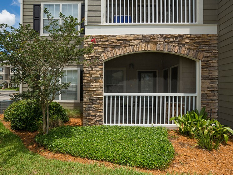 Screened Lanais Porch with Outside Storage (In Select Apartment Homes) at Reserve Bartram Springs, Jacksonville, FL, 32258