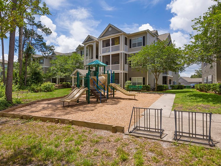 Children have a place to run at Reserve Bartram Springs too! Slides, Climbing Equipment and Bike Parking, Jacksonville, FL, 32258