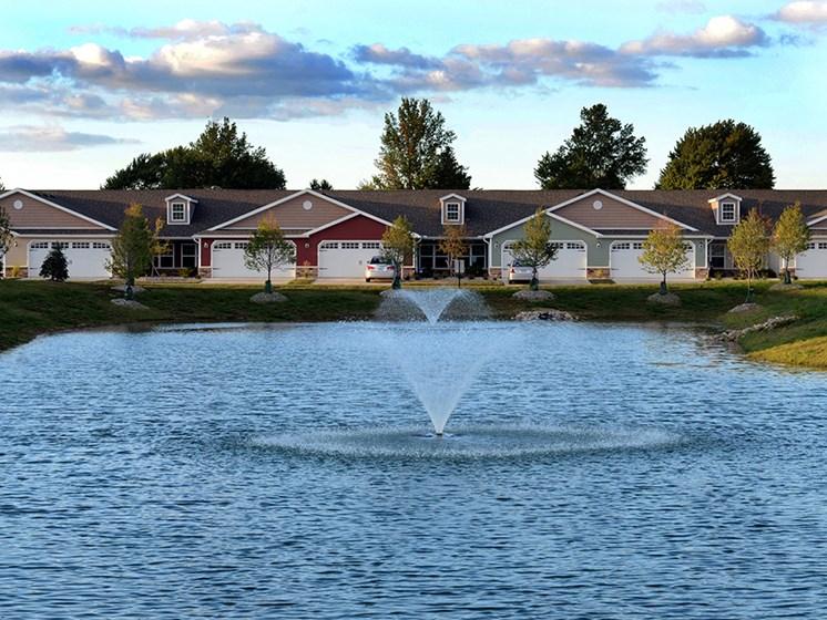 Delta Township MI Apartment Rentals Redwood Pepper Ridge Exterior Fountain