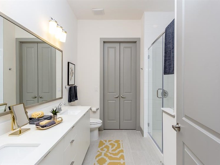 Luxury bathroom in apartment at The Mark