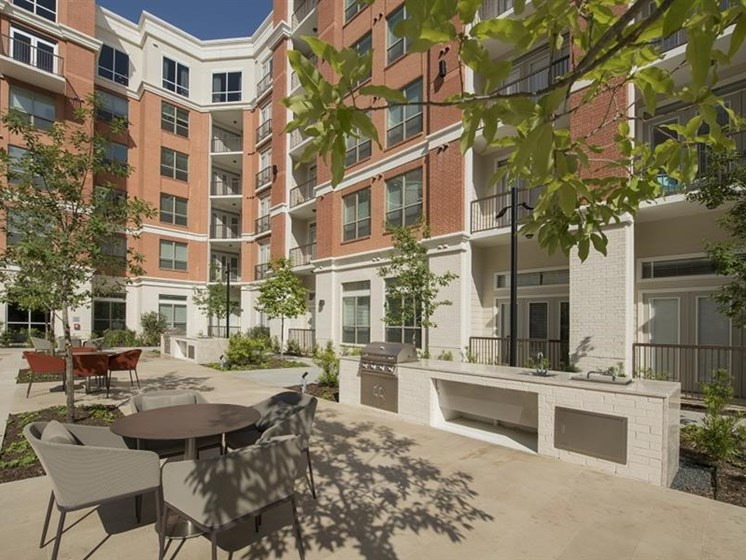 Outdoor living at The Mark apartments