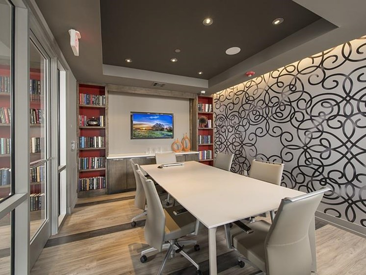 Conference room at The Mark apartments