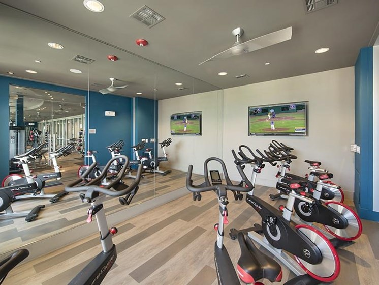Enjoy working out at these luxury apartments