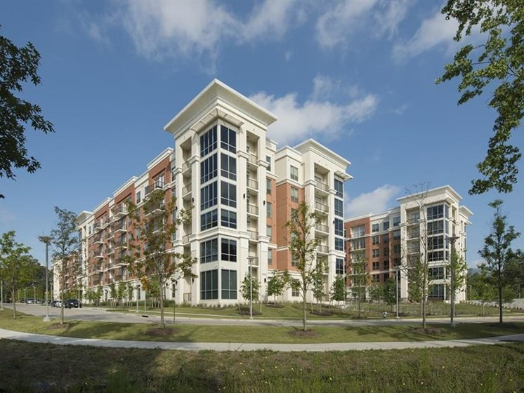 The Mark at CityPlace Springwoods Village apartment community building