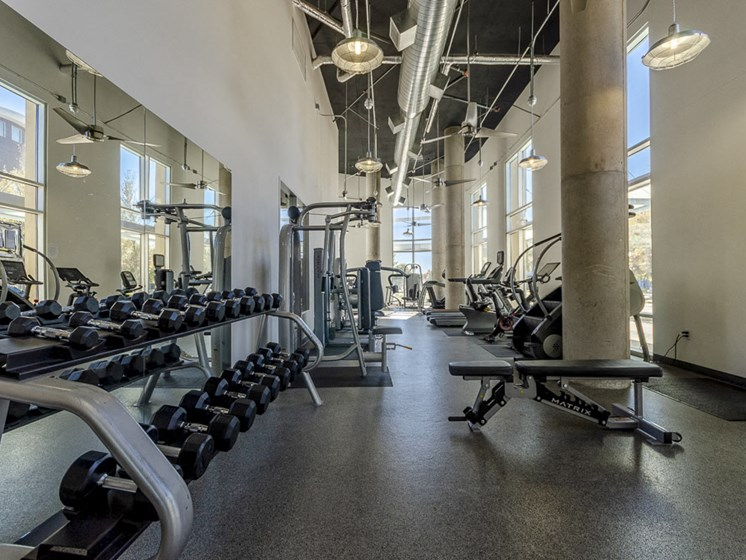 Two State-of-the-Art, 24-hour Fitness Centers including Peleton Cycling Bikes with Virtual Classes, Rowing Machines, Cardio Equipment, Strength Training Equipment, and Free Weights