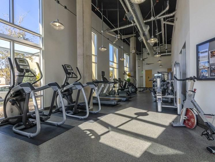 updated fitness center cardio machines