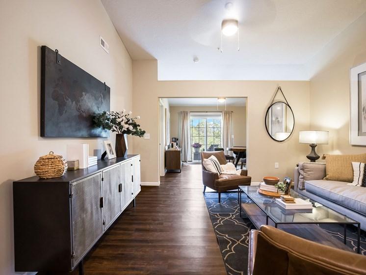 Grand Blanc Michigan Apartment Rentals Redwood Grand Blanc Living Room to Den