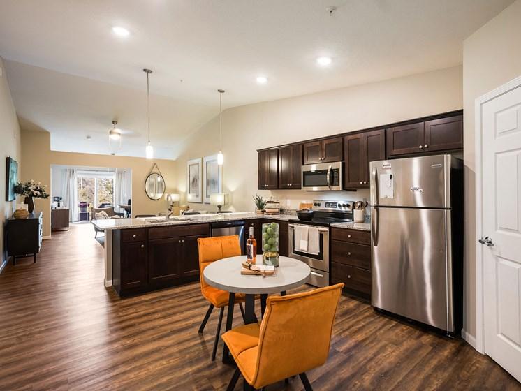 Grand Blanc Michigan Apartment Rentals Redwood Grand Blanc Kitchen Open Floor Plan View