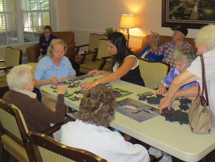 Seniors Playing at Savannah Court & Cottage of Oviedo, Oviedo, 32765
