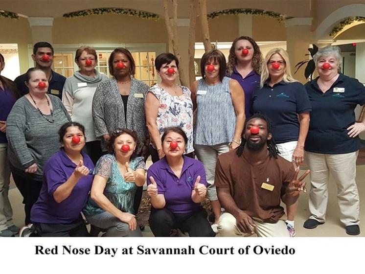 Red Nose Day at Savannah Court & Cottage of Oviedo, Oviedo, Florida