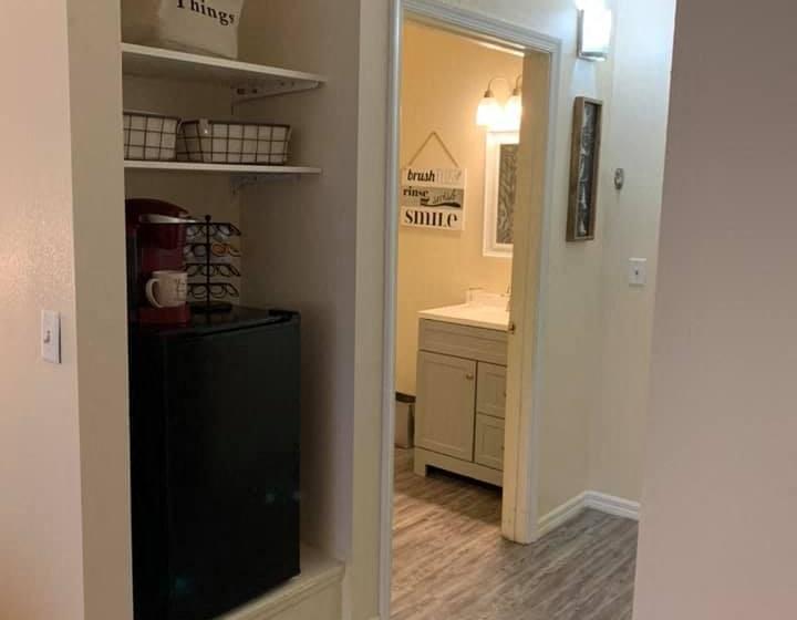 Bathroom With Adequate Storage at Savannah Court of Bartow, Florida