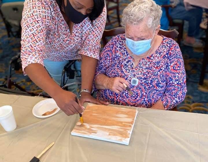 Seniors Doing Art Work at Savannah Court of Camilla, Georgia, 31730