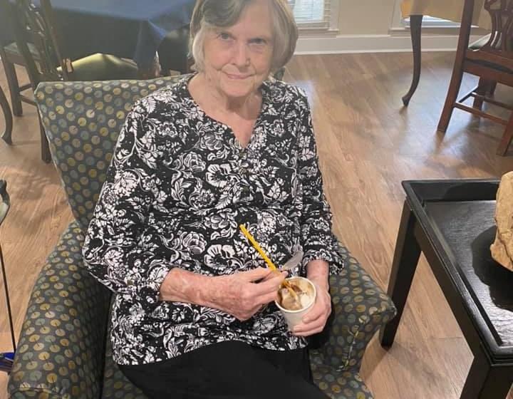 Happy Senior Resident at Savannah Court of Camilla, Camilla, GA
