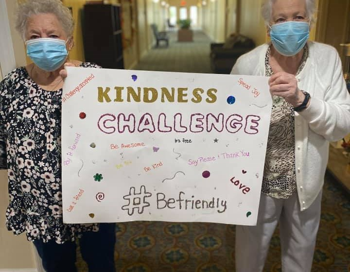 Seniors Carrying A Sign Board at Savannah Court of Camilla, Camilla, 31730
