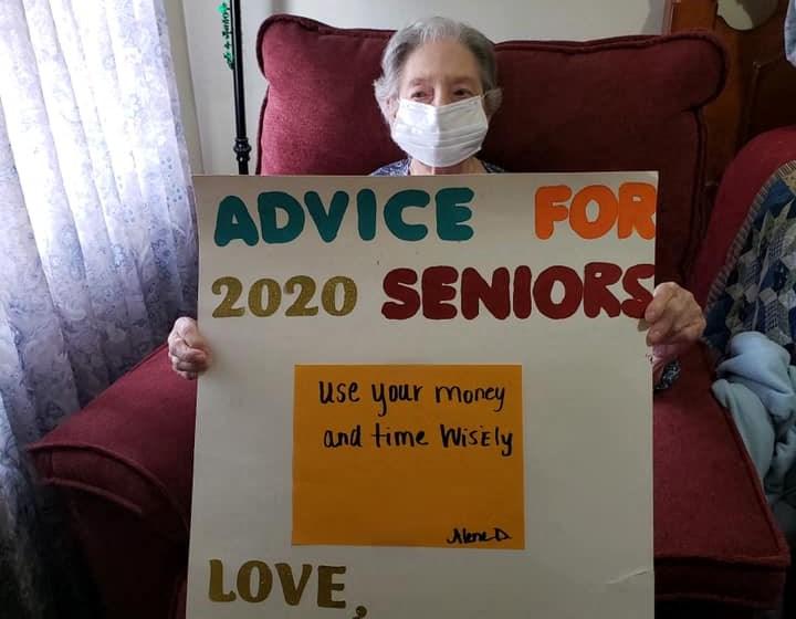 Advice For 2020 Seniors Sign Board at Savannah Court of Camilla, Camilla, GA, 31730