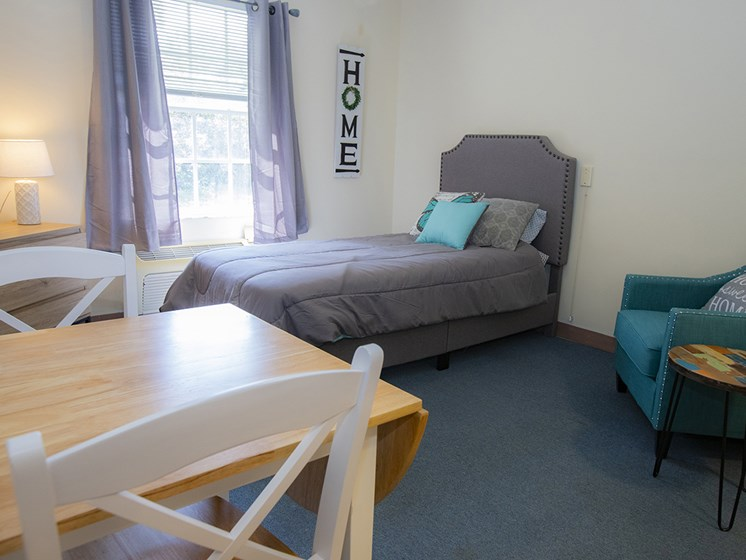 Beautiful Bright Bedroom With Wide Windows at Savannah Court of Haines City, Haines City, 33844