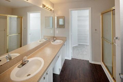 Vacant apartment home bathroom