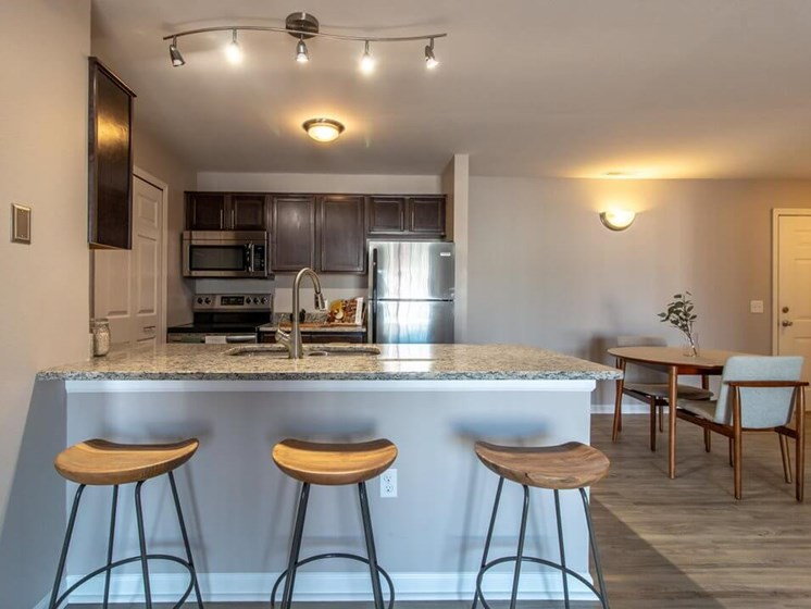 Upgraded Kitchens at Fairfield Apartments