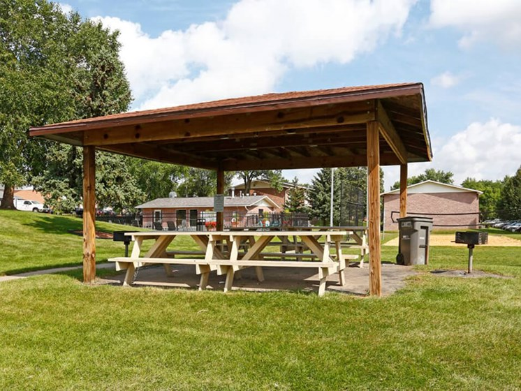 outdoor picnic area at Rochester MN Apartments
