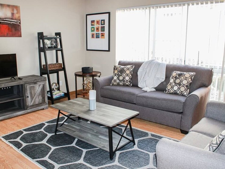 living room in The Gates of Rochester Apartments