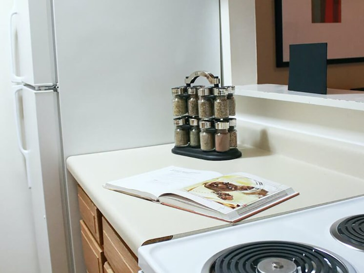 kitchen at The Gates of Rochester Apartments