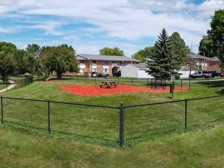 Private dog park at Rochester MN Apartments
