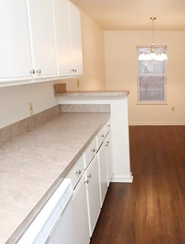 The Brickyard apartments kitchen counters