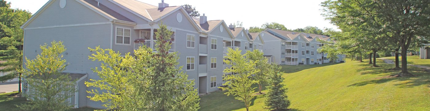 This is a photo of building exteriors/grounds at Trails of Saddlebrook Apartments in Florence, KY.