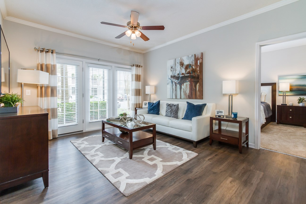 Spacious Living Room at The Preserve at Tampa Palms Apartments in Tampa, FL