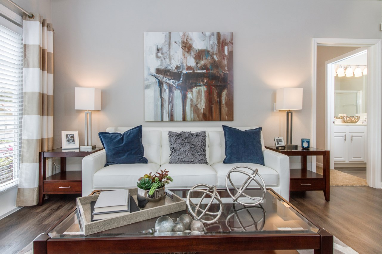 Living Room at The Preserve at Tampa Palms Apartments in Tampa, FL