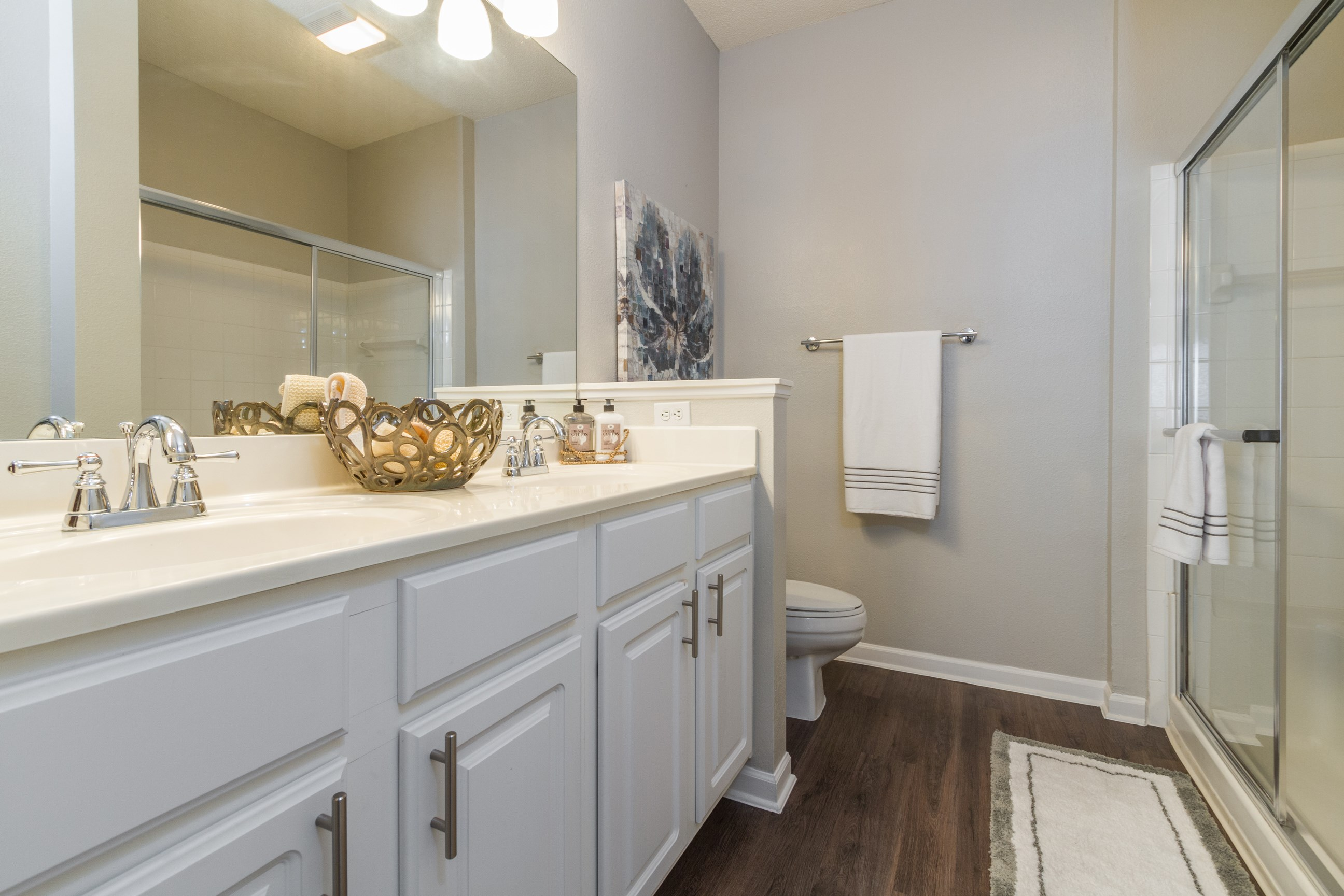 Bathroom at The Preserve at Tampa Palms Apartments in Tampa, FL