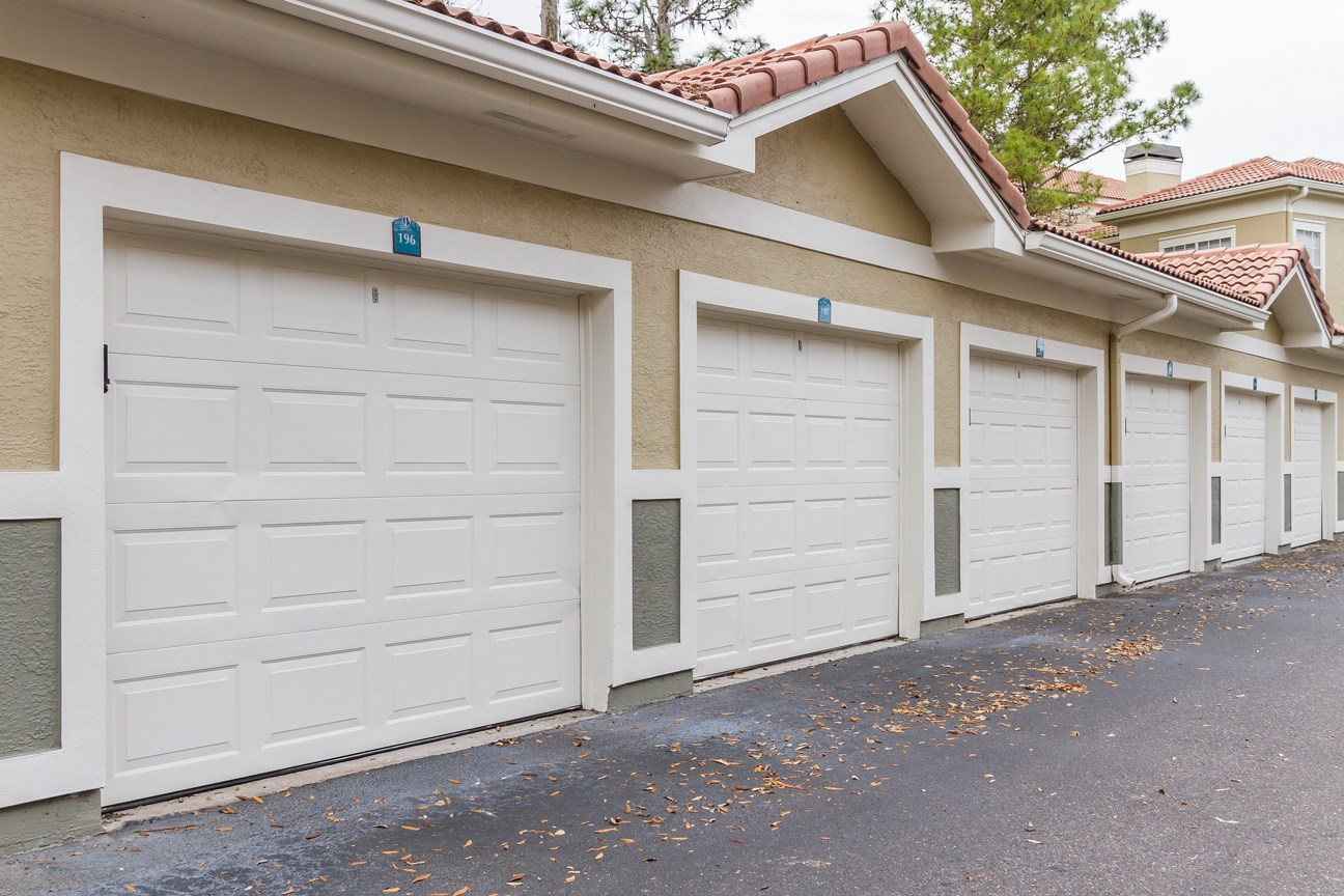 Garages at The Preserve at Tampa Palms Apartments in Tampa, FL